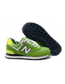 new balance homme 574 blanc vert