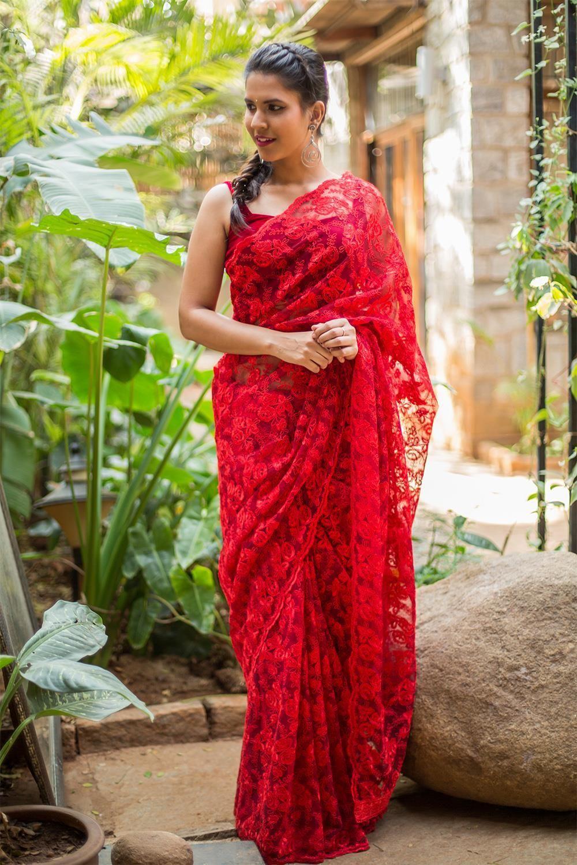 Six Yards of Beauty, Glamor and Magic! | Lace saree, Saree ...