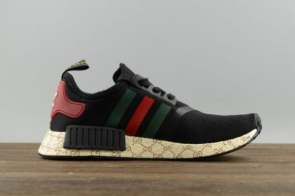 2787b76f113 2017 Cheap Adidas Originals NMD X Gucci Black Running Shoes S70166 For  Sale-4