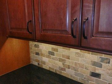 Black Pearl Granite with Backsplash   228,179 slate backsplash Home Design Photos