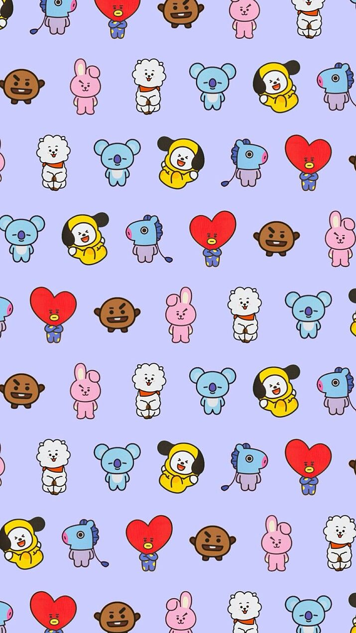 All of this lovely characters bt21 are together this is beautiful!!!!😍❤