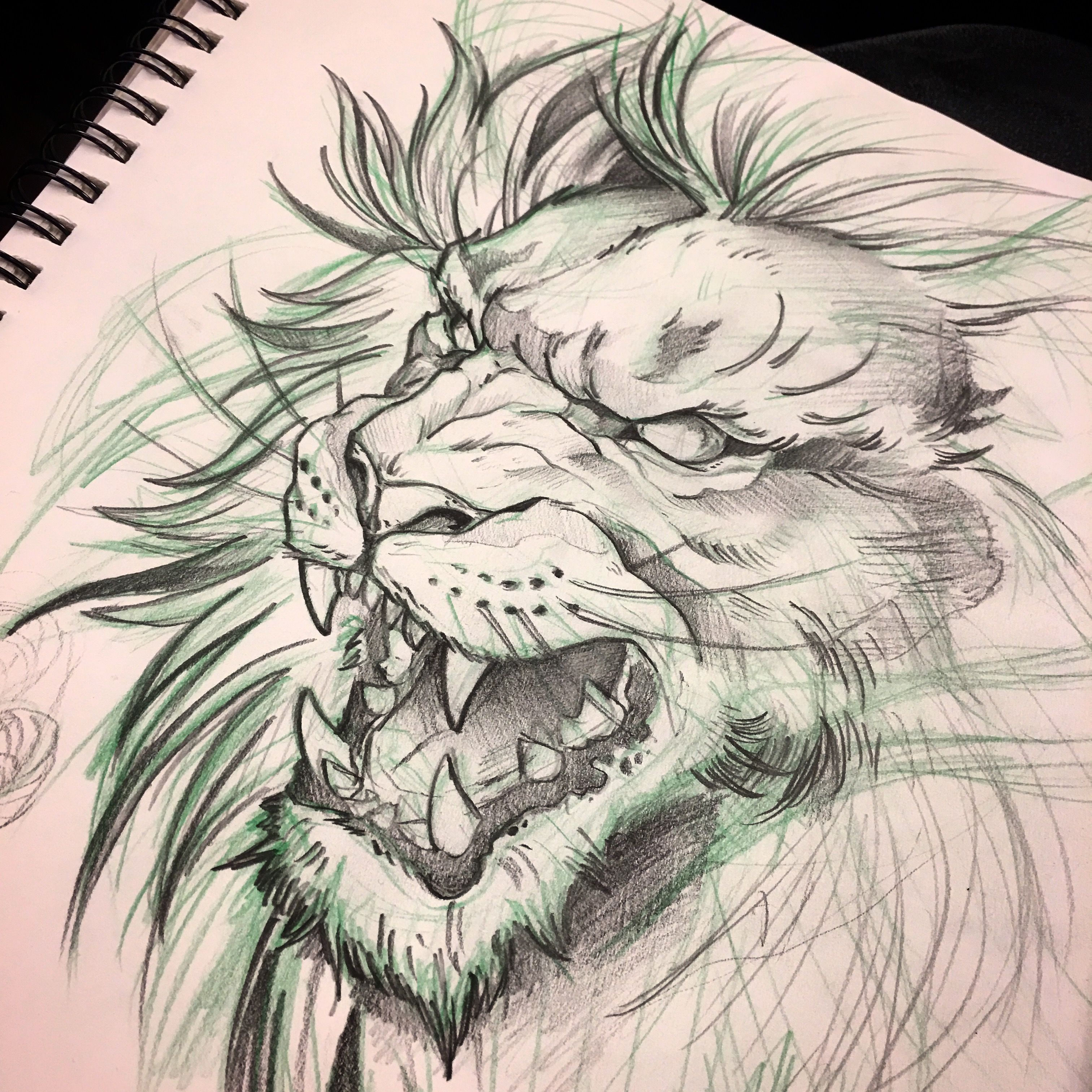 Instagram Mike Tattoo Lion Sketch Toronto Tattoos Red9ine Tattoos
