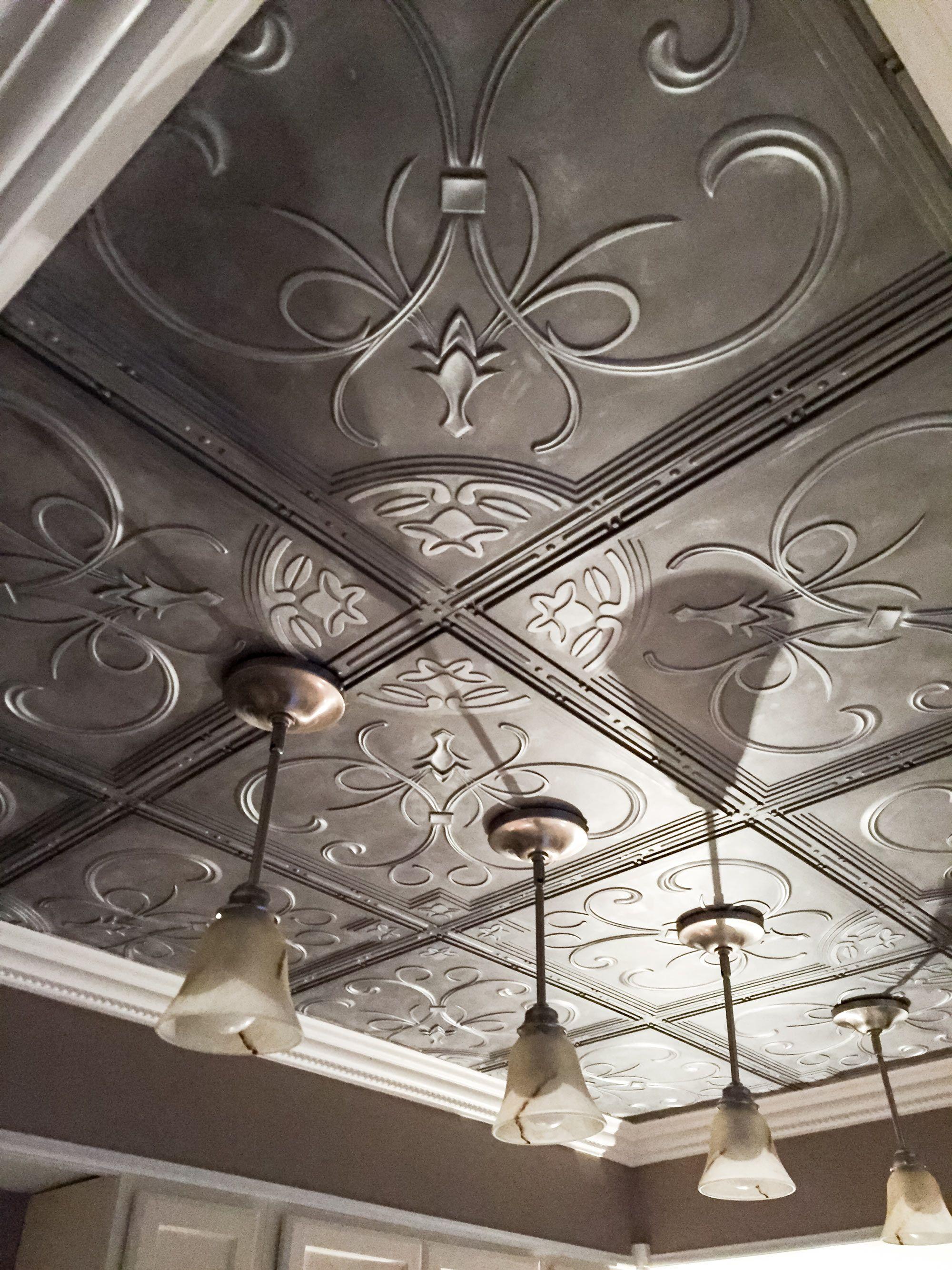 French Quarter Ceiling Tile White Carreaux De Plafond Carreaux De Plafond En Etain Peindre Des Carreaux