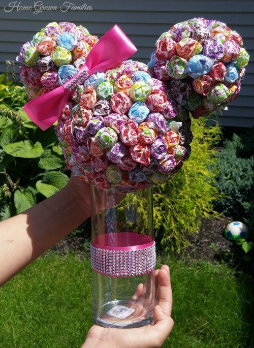 DIY Mickey & Minnie Dum-Dum Lollipop Centerpieces