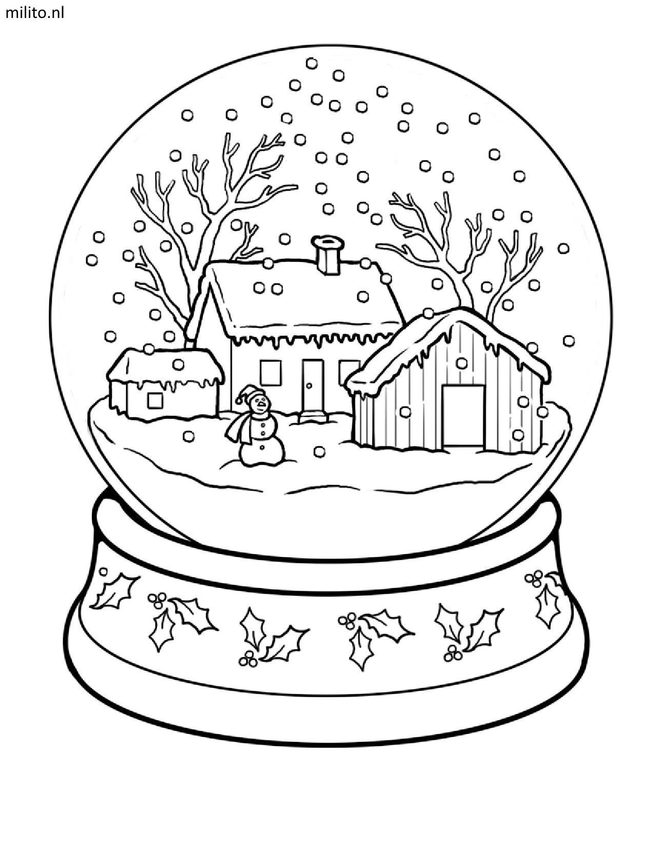 Kleurplaat Kerst 2 Milito Nl Idee Kleurplaten Kerstman 20 Idee