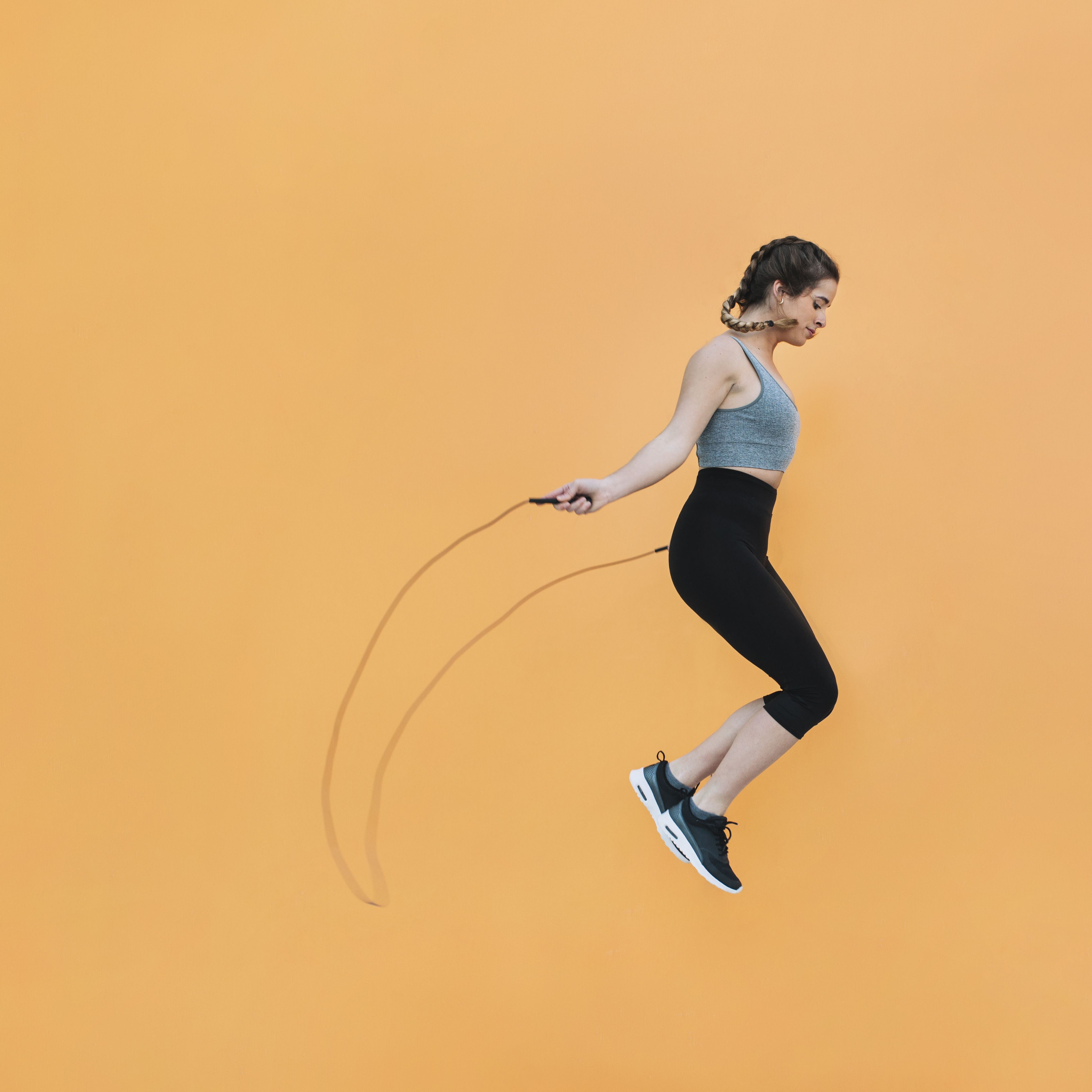 Work out 🏃🏽‍♀️like a pro with the Fitness Factor Adjustable Jump Rope. Skip rope smoother and faster...