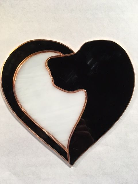 Fantastic stained glass decor with title LOVE makes all things beautiful heart shaped decor for window gift for young couple gift for lovers