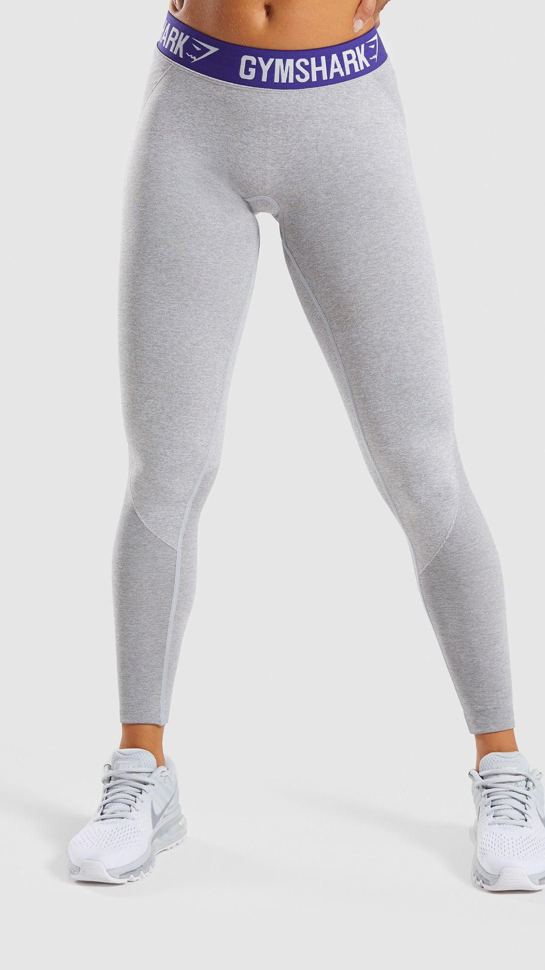 334380b0b6872 The Gymshark Flex Leggings, Light Grey Marl/ Indigo. Combining our  signature seamless knit with superior, sculpting design. #Gymshark #Gym  #Sweat #Train ...