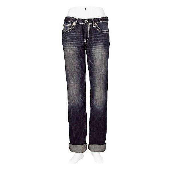 Big Star Dylan Boyfriend Cuffed Jean ($40) ❤ liked on Polyvore featuring jeans, pants, blue, denim, halton, denim jeans, faded jeans, cuff jeans, relaxed boyfriend jeans and embroidered denim jeans