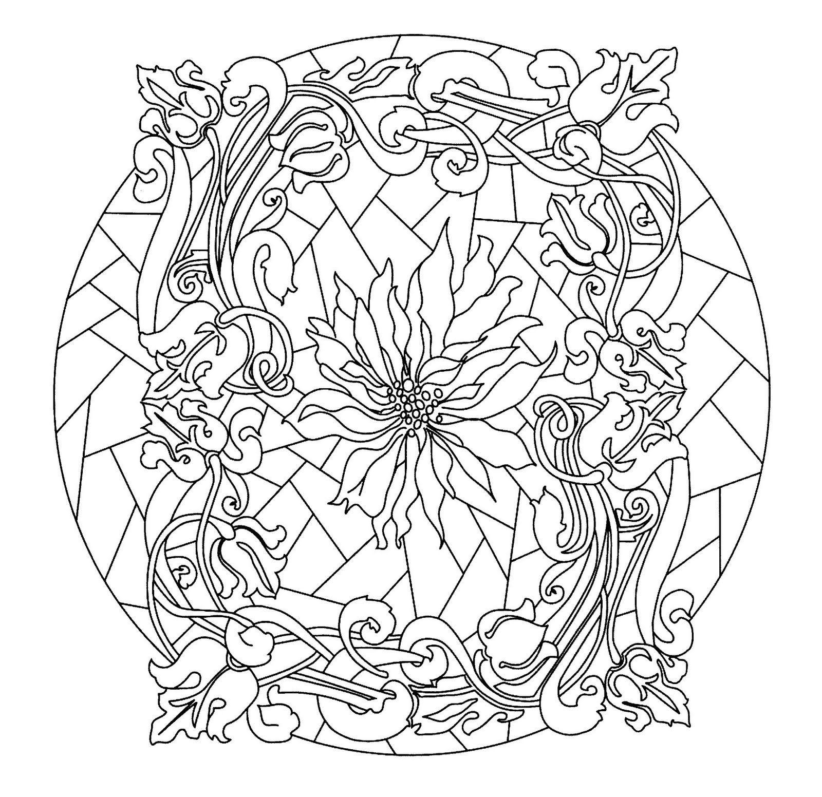 Mandalas para pintar, imprimir y colorear. A través de las ...