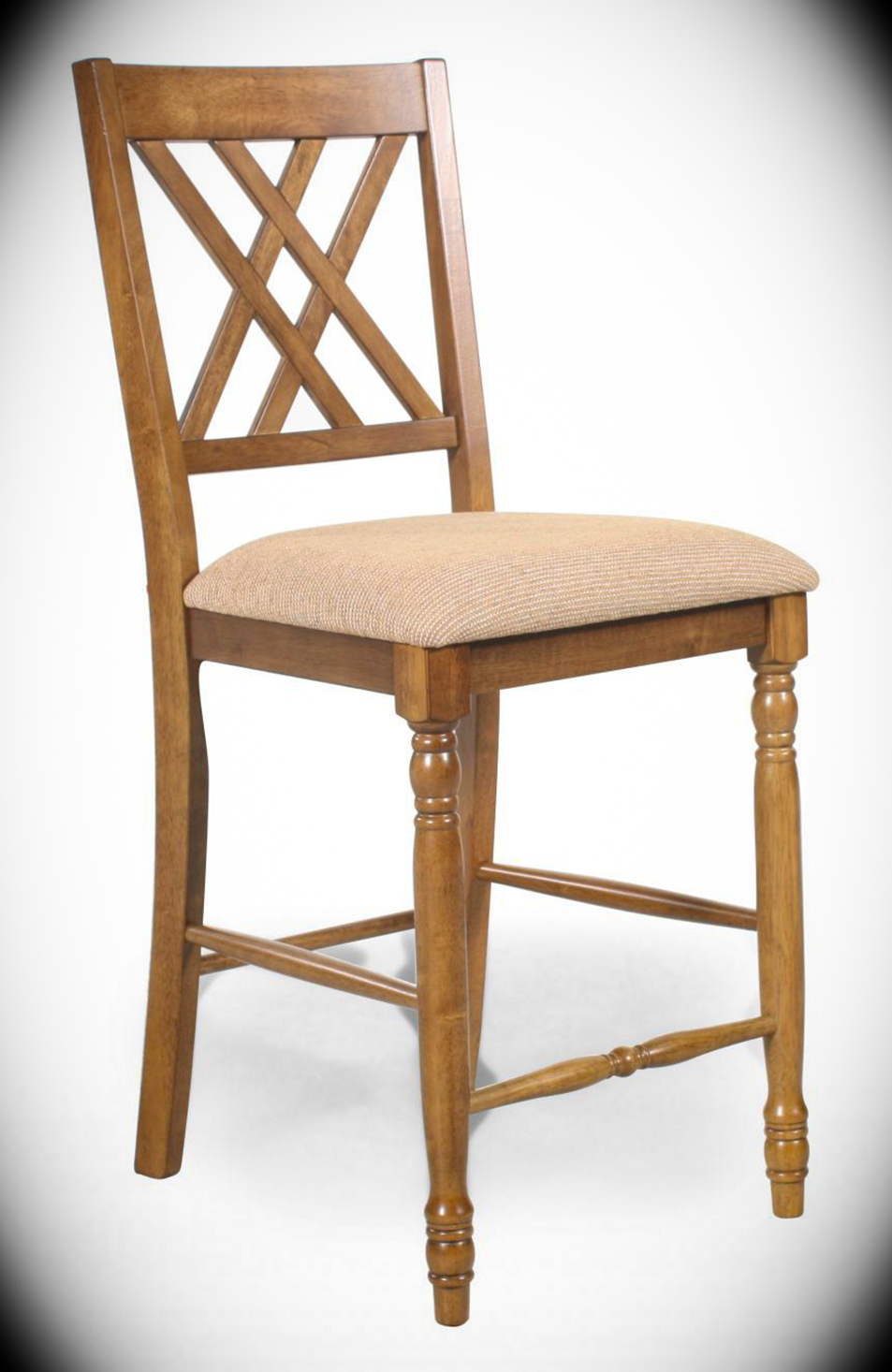 Counter Height Double X Back Upholstered Chair Florence