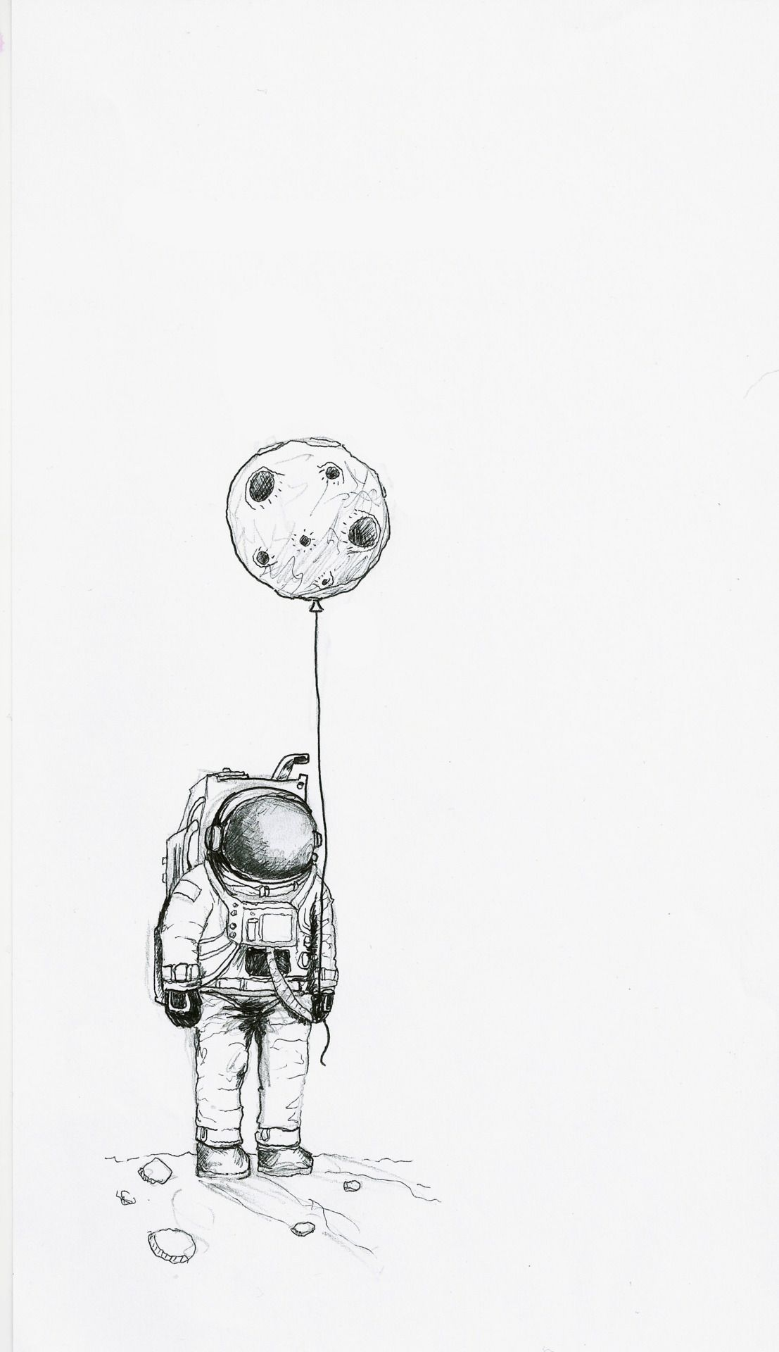 Astronaut baloon moon