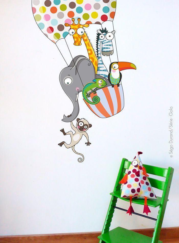 Sticker Enfant Rigolo Et Coloré ! Création Serie-Golo. | Serie