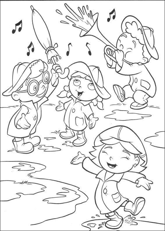 kleurplaat Little Einsteins - Kleine Einsteins in de regen ...