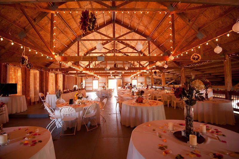 Reception area in big white barn at victorian veranda country inn barn weddings junglespirit Image collections
