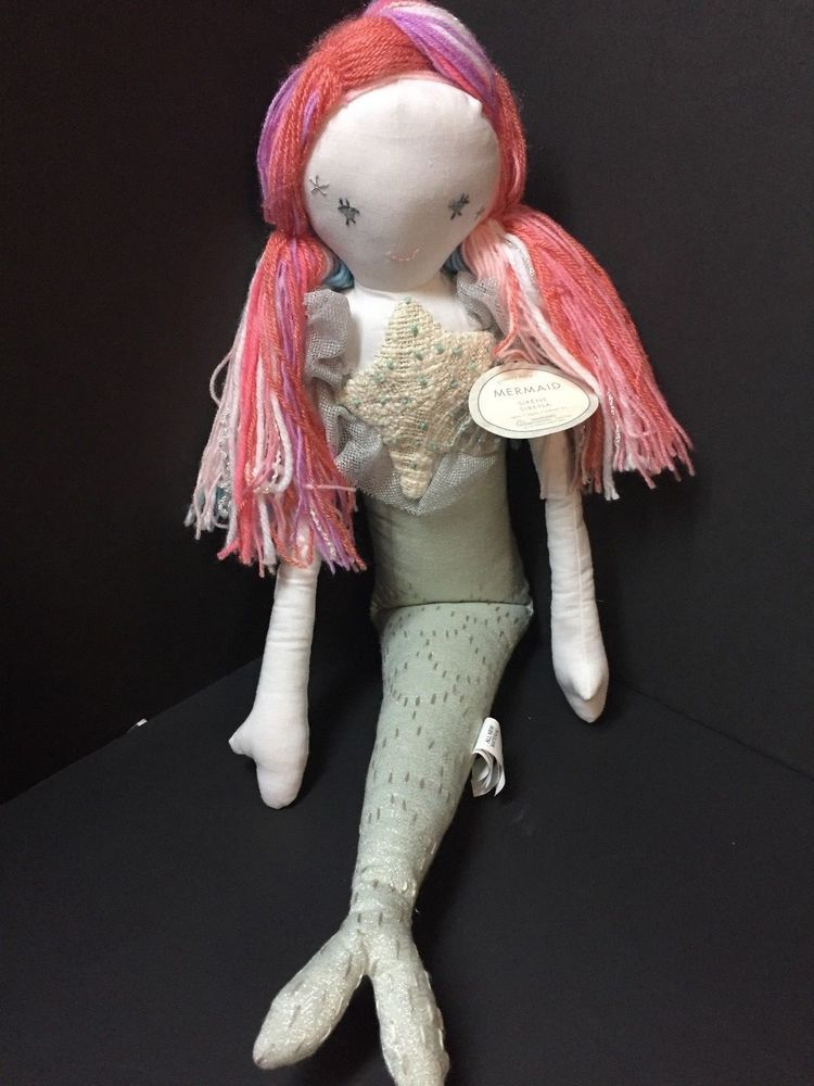 Lg Pottery Barn Kids Plush Magical Mermaid Doll Isabelle
