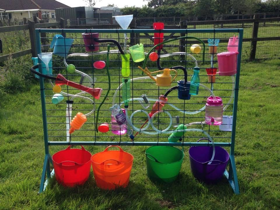 Outside water wall toddlers articles pinterest water for Kindergarten playground design