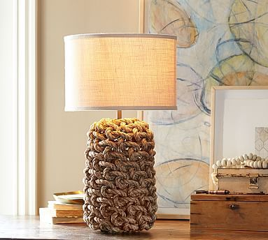 Interlaced Rope Table Lamp Base Potterybarn Library Lamps Lamp