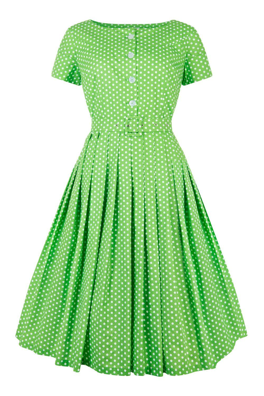 1950s House Dresses History 50s Shirtwaist Dress Green Cotton Dress Cotton Dress Summer Short Sleeve Summer Dresses [ 1500 x 1000 Pixel ]