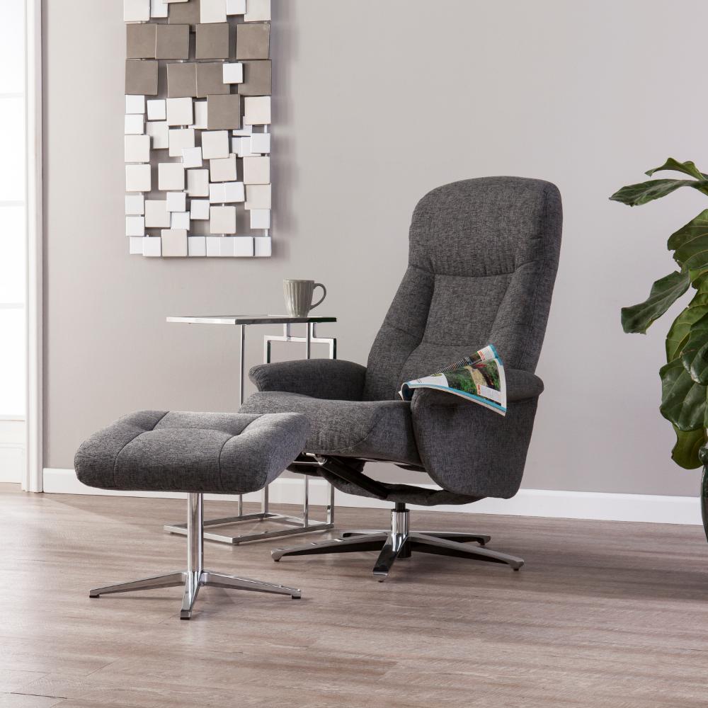 Southern Enterprises Fergon Reclining Chair and Ottoman