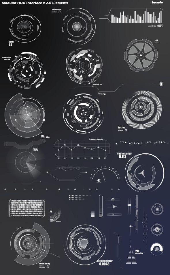 Infographics Ui Design Et Web Design: Design Numérique, Web Design, Interface Jeu