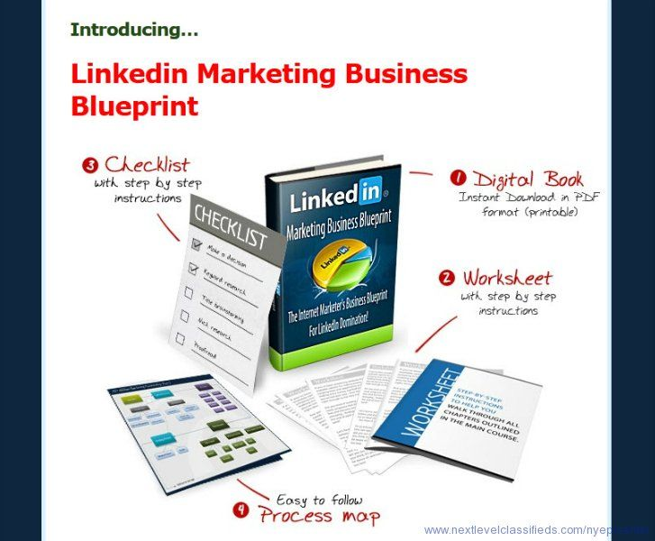 Linkedin marketing business blueprint the social networking linkedin marketing business blueprint the social networking site thats better focused than facebook with richer members than twitter malvernweather Image collections