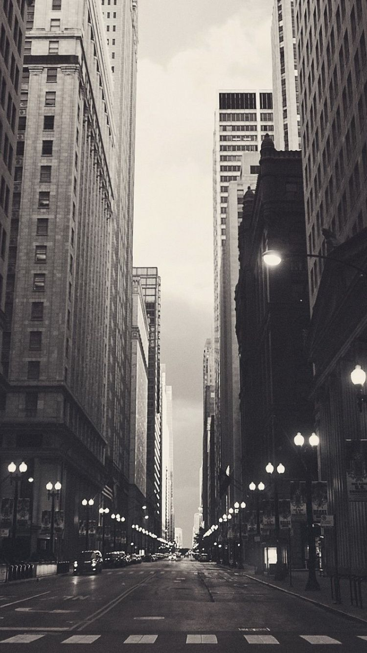 Financial District Chicago Street Iphone 6 Wallpaper City Wallpaper Iphone 5s Wallpaper Wallpaper Backgrounds