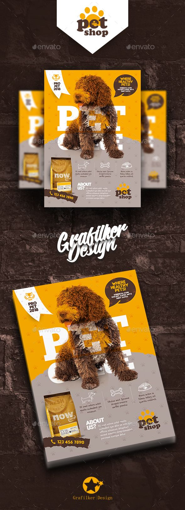 Pet Shop Flyer Templates Corporate Flyers Flyer Pinterest