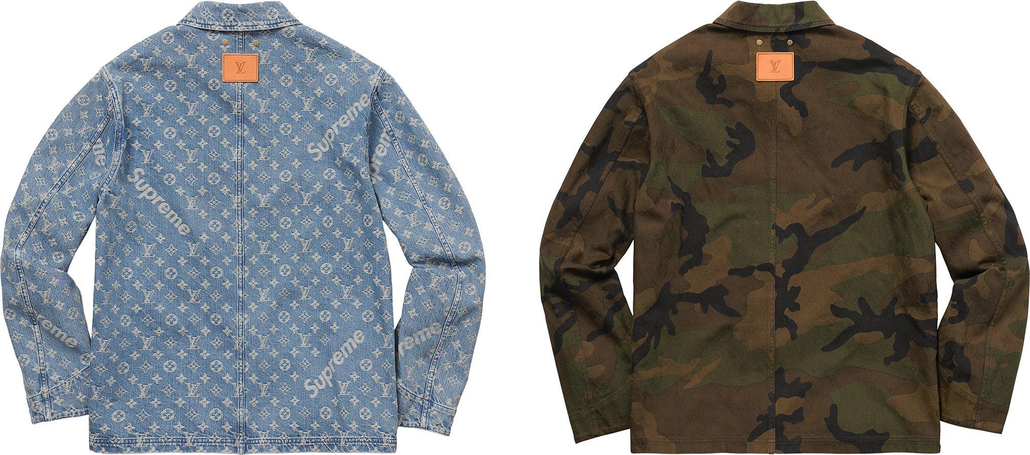 a30443358 Supreme Louis Vuitton/Supreme Jacquard Denim Trucker Jacket | A ...