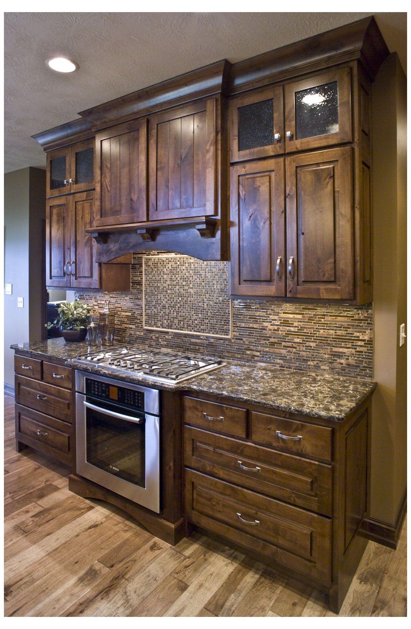 Farmhouse Kitchen In 2020 Kitchen Cabinets And Flooring Brick Backsplash Kitchen Vinyl Flooring Kitchen
