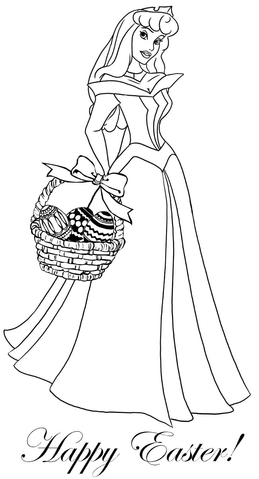PRINCESS COLORING PAGES Easter