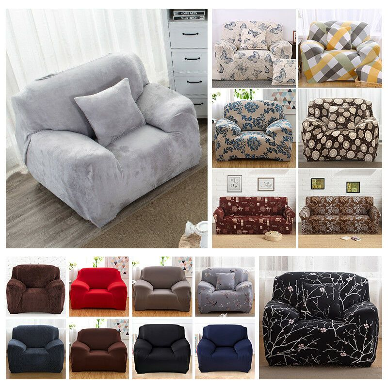Details About 1 2 3 4 Seater Elastic Stretch Sofa Couch Cover Slipcover Furniture Protector Couch Covers Slipcovers Slip Covers Couch Couch Covers