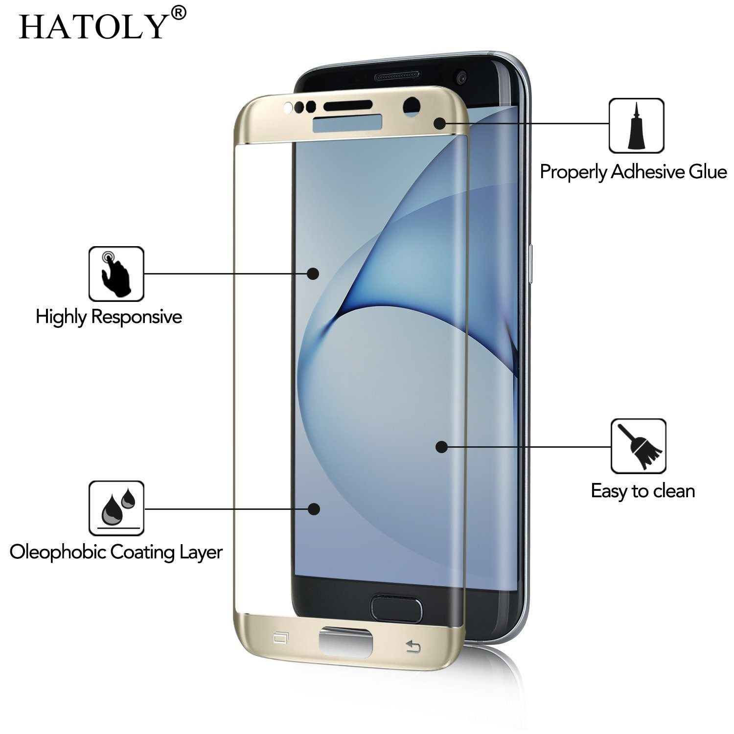 1pcs Tempered Glass For Samsung Galaxy S7 Edge Anti Explosion