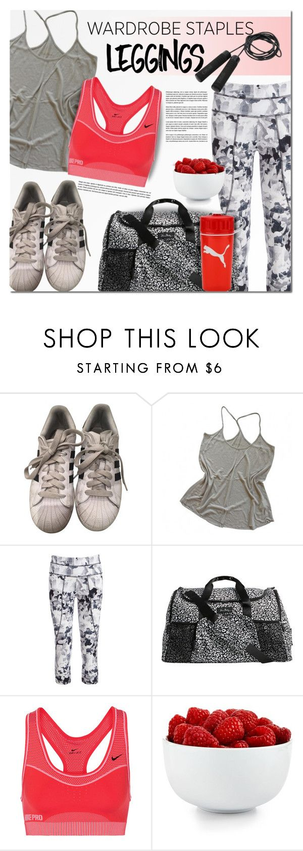 """""""Wardrobe Staples: Leggings"""" by barbarela11 ❤ liked on Polyvore featuring adidas, Zadig & Voltaire, Varley, Vera Bradley, NIKE, Casall and The Cellar"""