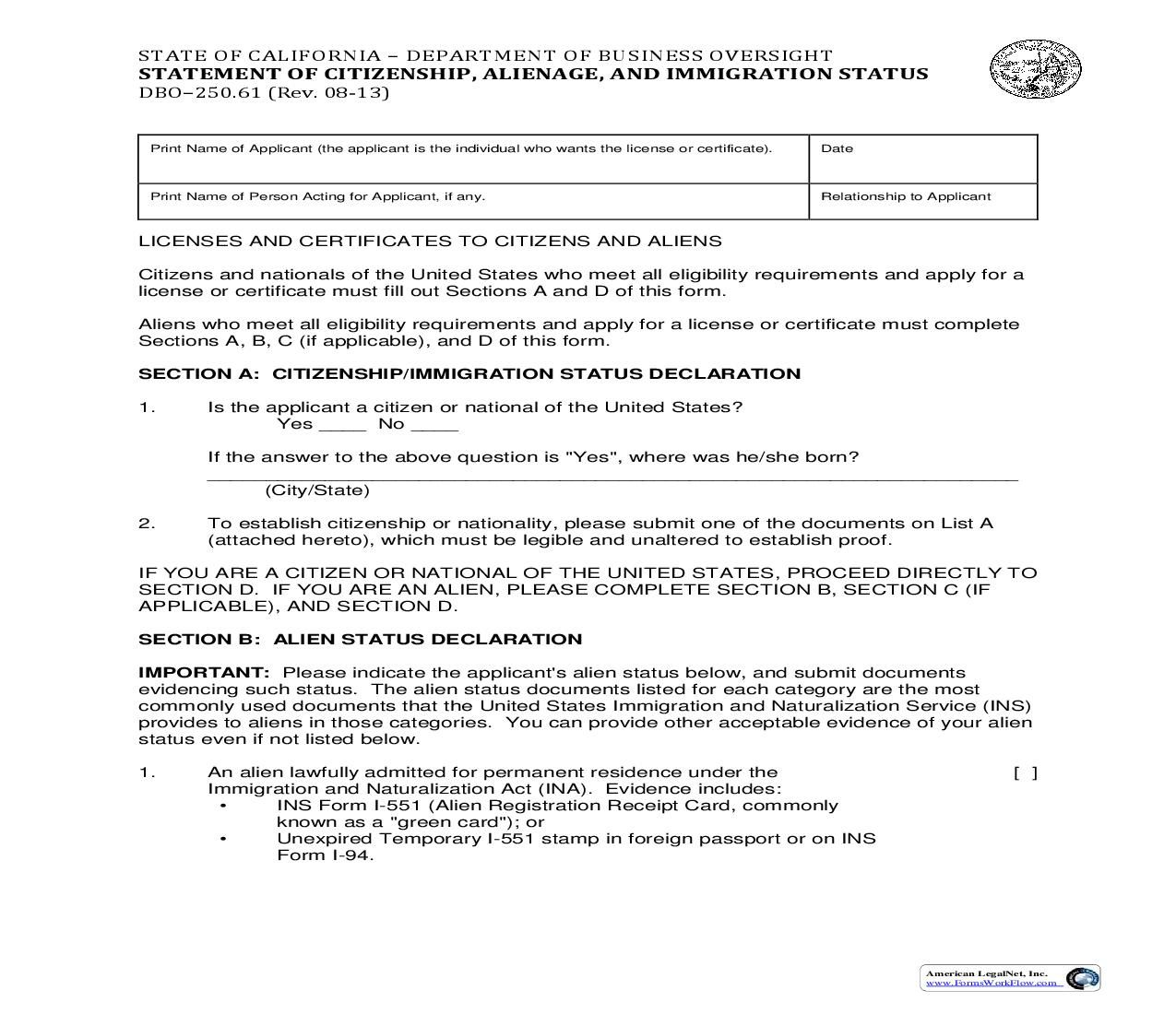 This Is A California Form That Can Be Used For Broker