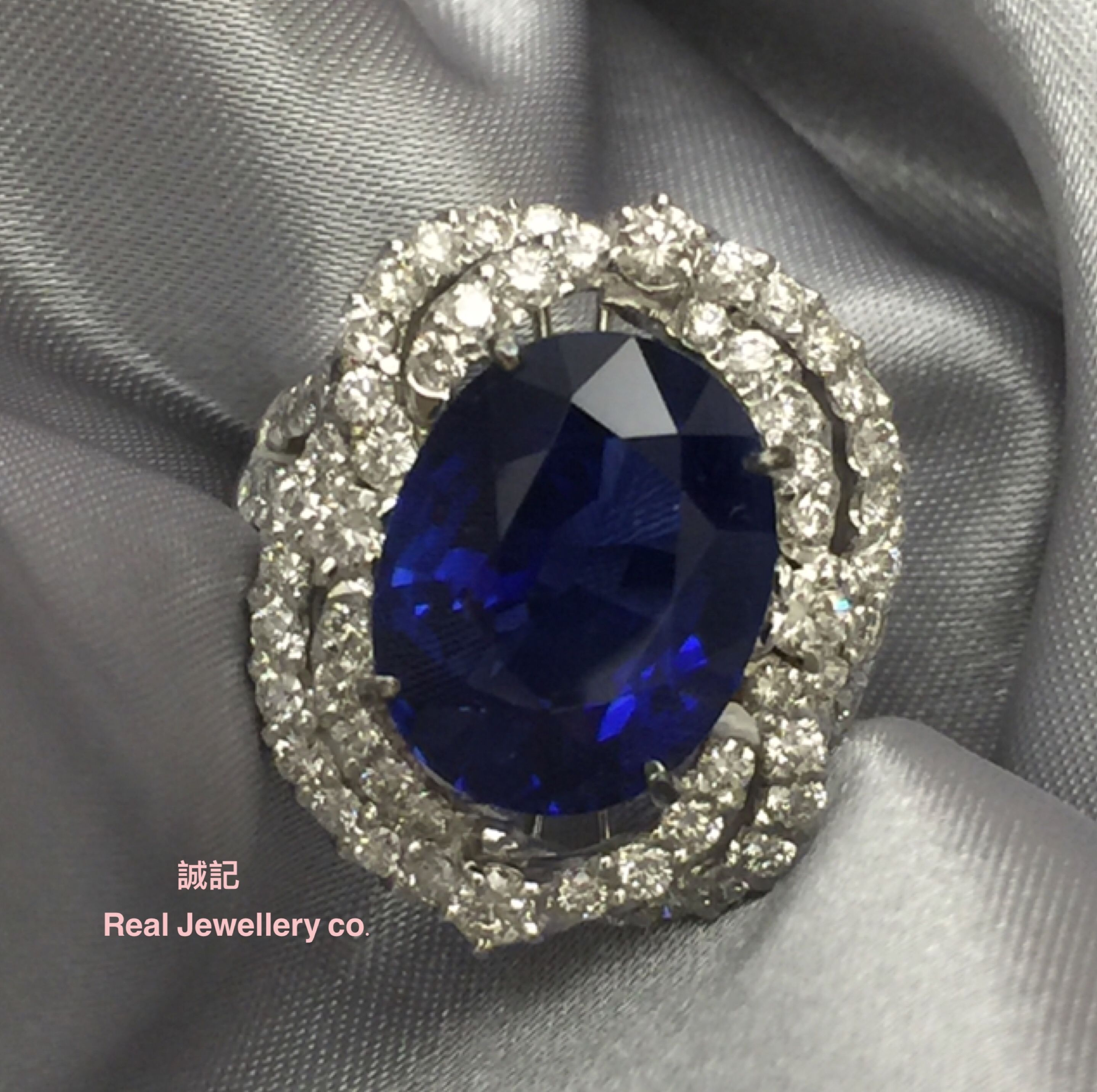 revoni gold real to click women in itm on ring enlarge solid diamond the sapphire blue yellow image for zoom