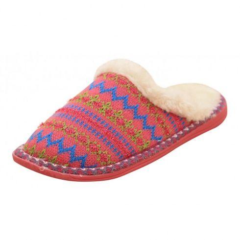 840bba1a2a1d Dunlop Ladies Faux Fur Knitted Slip On Warm Slipper Mules - Dunlop from  Jenny-Wren Footwear UK