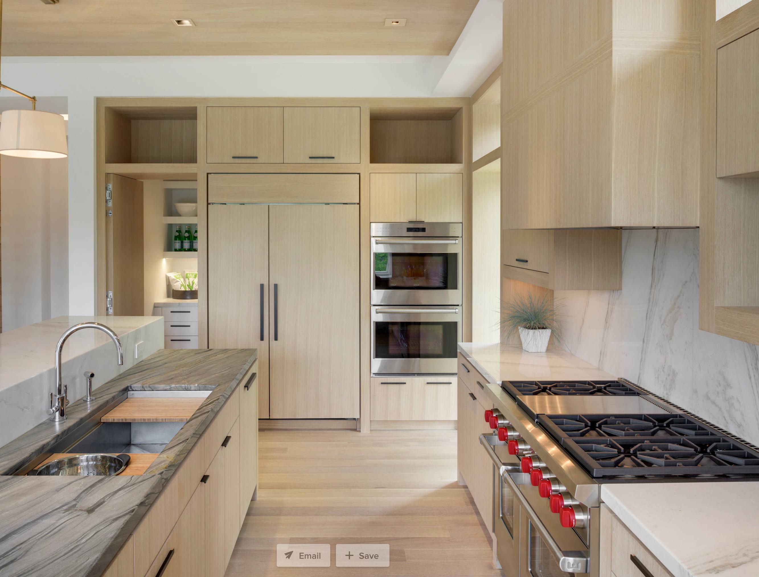Rift and quarter sawn white oak luxury homes contemporary kitchen design house design