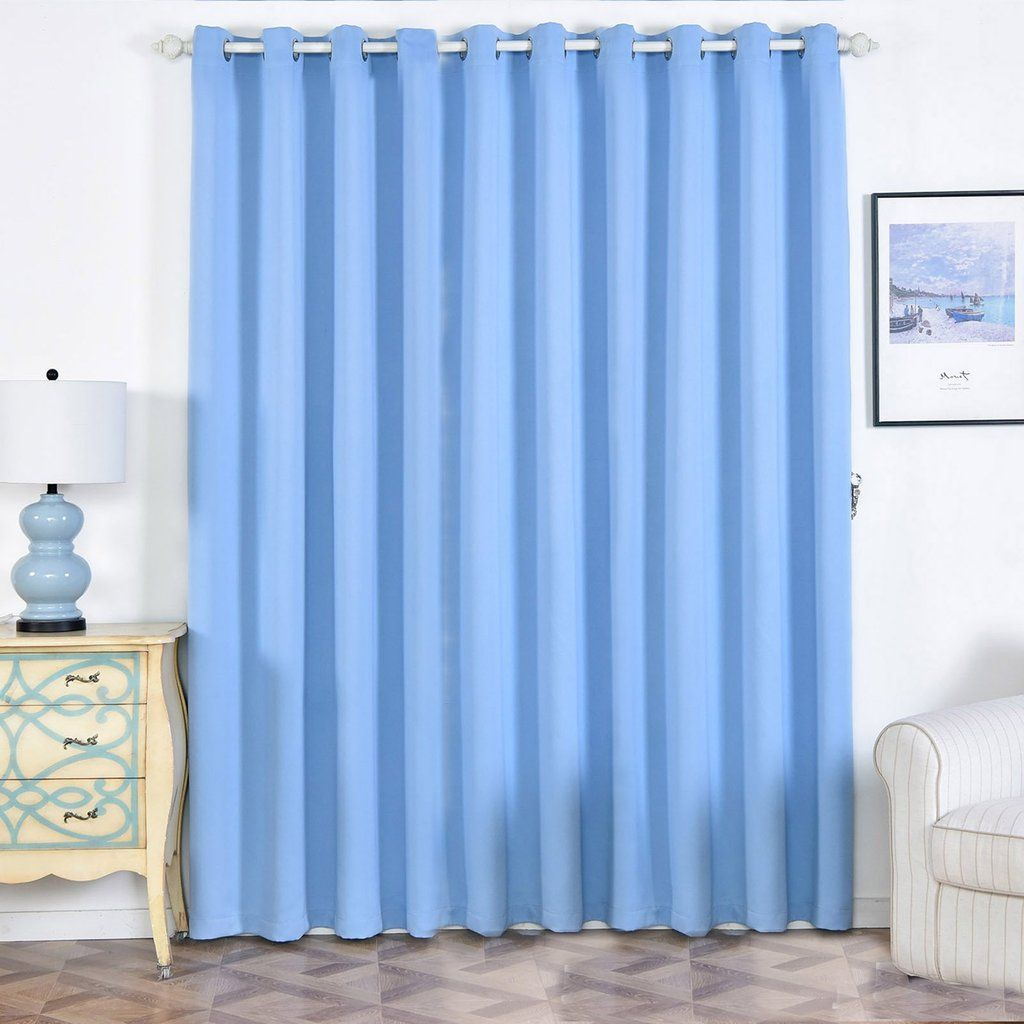 Baby Blue Blackout Curtains