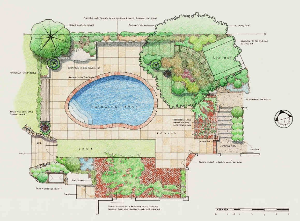 Landscape design concept drawings bathroom design 2017 for Landscape plan drawing
