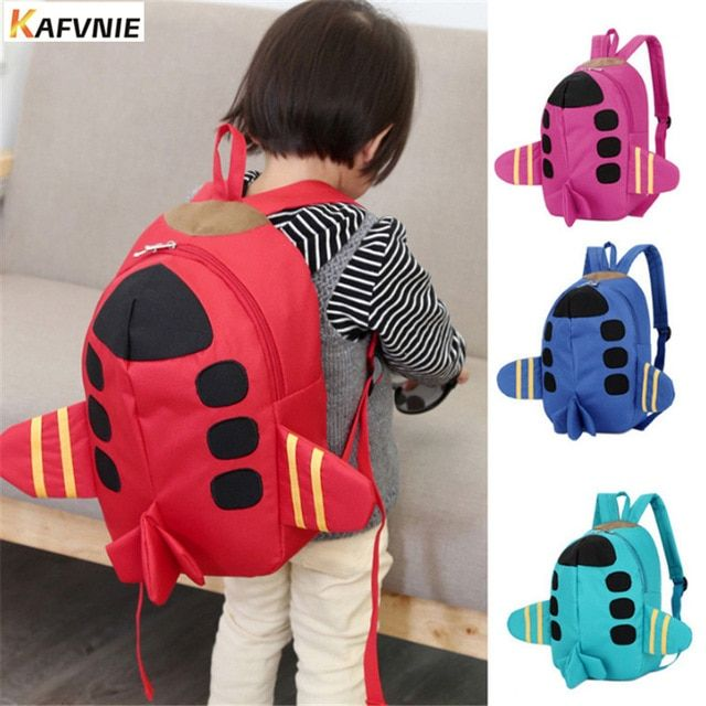 90b23b38dd99 2017 Cartoon 3D Aircraft Kids Backpacks Baby Mini Schoolbag kindergarten Backpack  Cute Children School Bags for Girls Boys Review