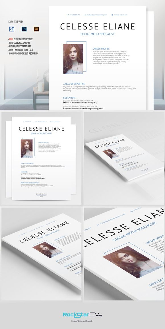 Resume Template Celesse by Resume Templates on \u2026 Resume Templates