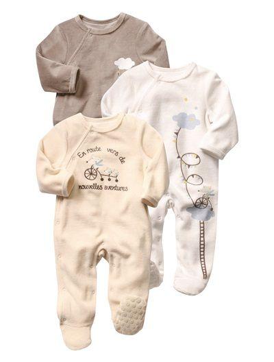 30€ Lote de 3 pijamas de terciopelo variados bebé mixto VARIADOS