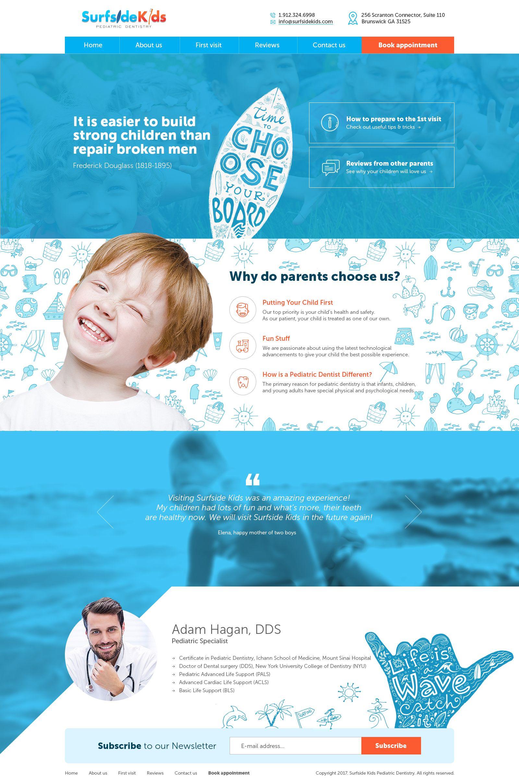 Designs | Surfside Kids | Web page design contest | Web