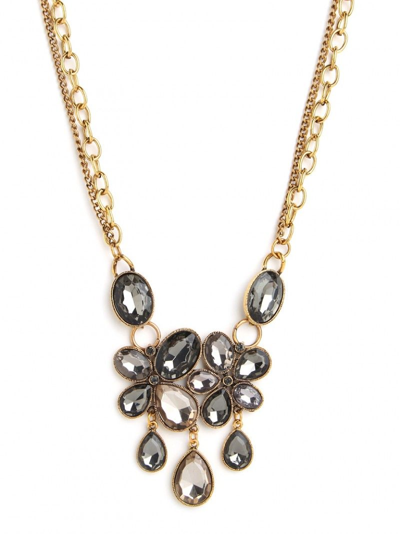 Gray Marie Necklace BAUBLEBAR | Grey Wedding Colors