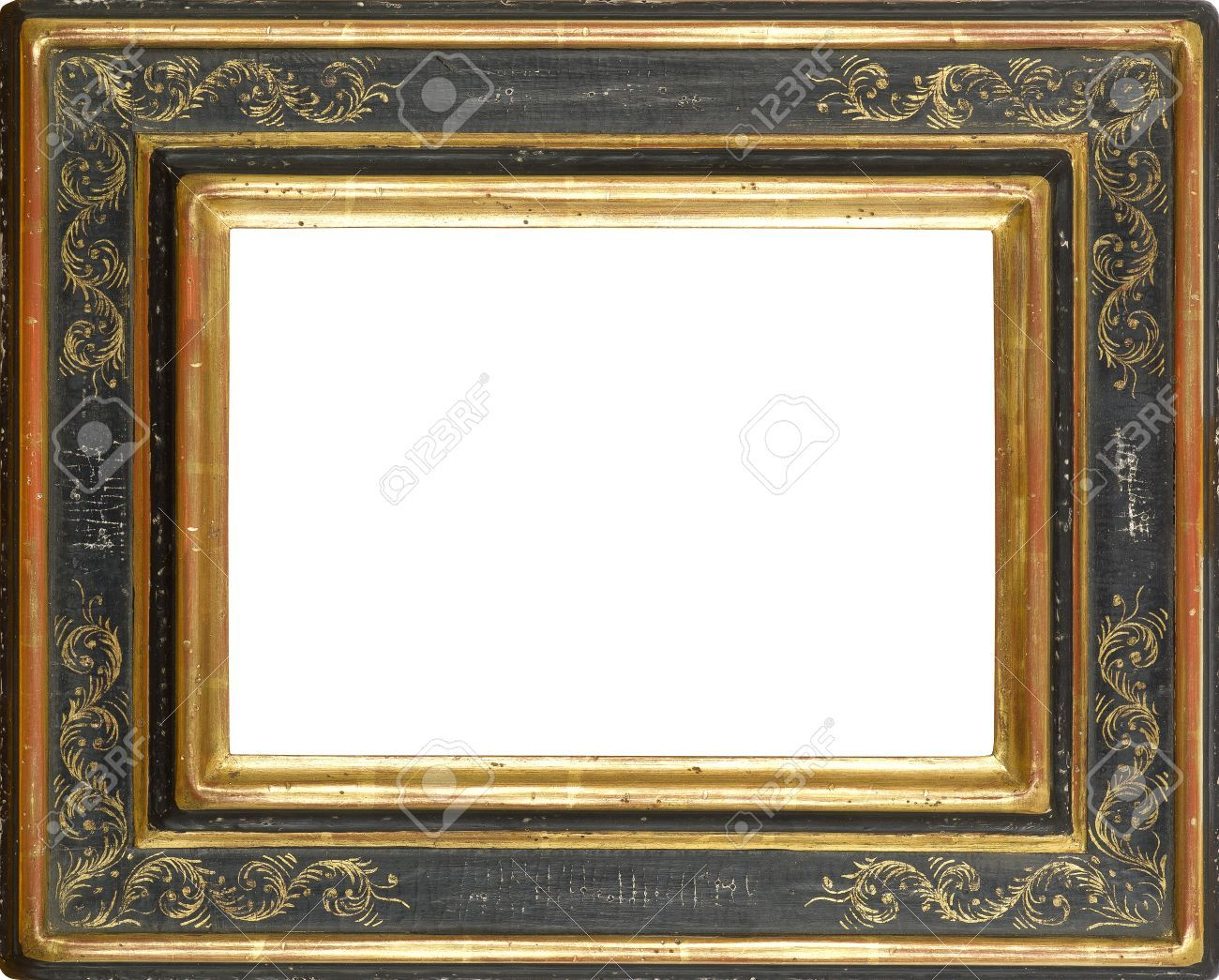 12603795 gold and black art picture frame stock photo framesg 12603795 gold and black art picture frame stock jeuxipadfo Image collections