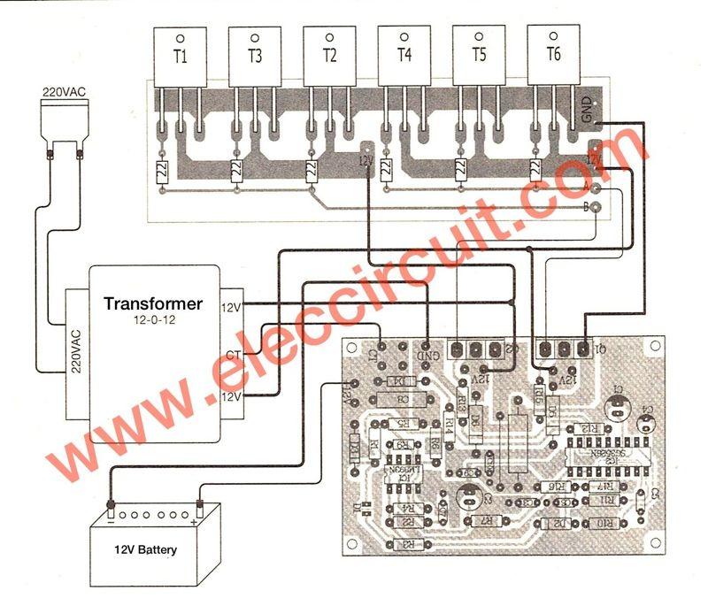 500W    power    inverter    circuit using SG3526IRFP540   1   Circuit     Diagram     Electronics