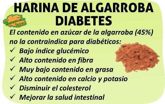 algarroba y diabetes
