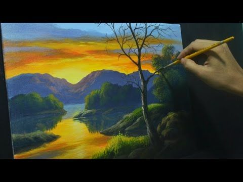 Acrylic Landscape Painting Lesson Sunset River By Jmlisondra Youtube Landscape Painting Tutorial Landscape Paintings Landscape Painting Lesson