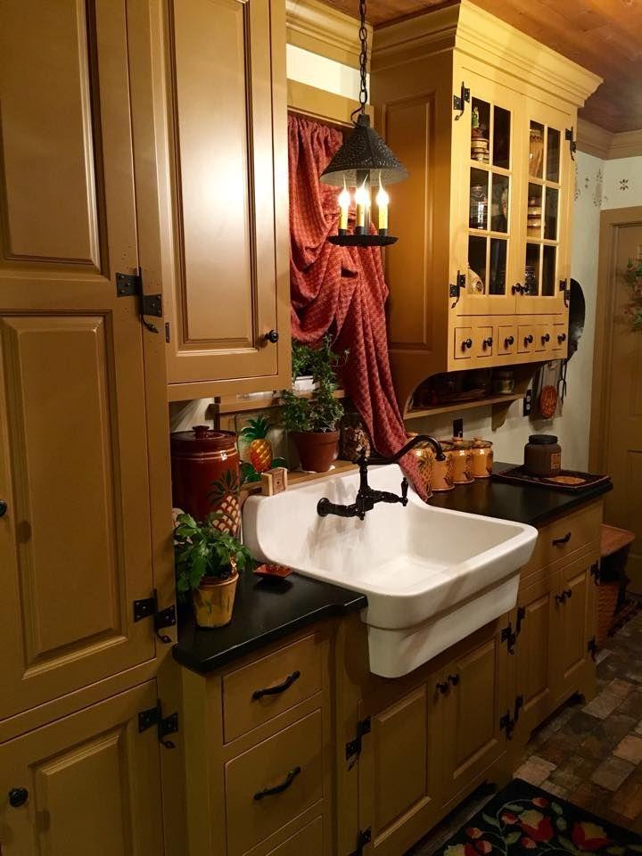 Primitive kitchen.. | Primitive | Pinterest | Cocina primitiva y ...